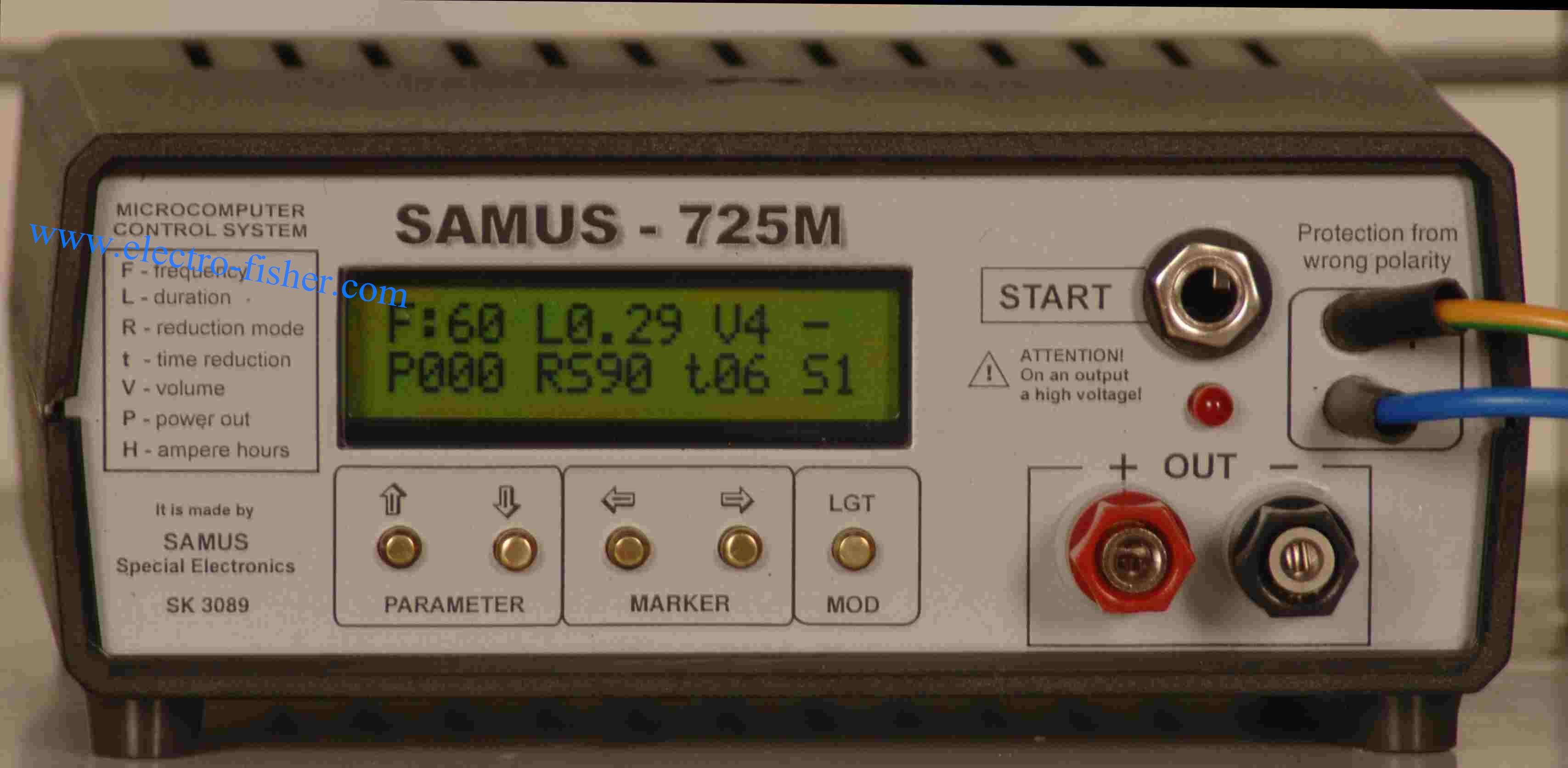Продаю электроудочку SAMUS 725 MP для промышленного отлова рыбы в водоемах с пресной водой, два режима...